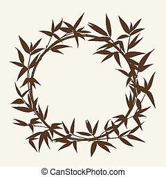 Bamboo decorative frame.