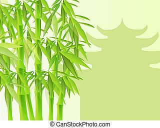 Bamboo - Thrickets of a bamboo on a background of a...