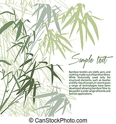 Bamboo. Floral background with copy space, vector...