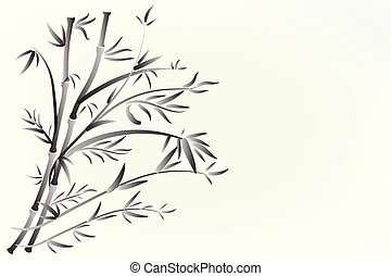 Bamboo floral plant  logo