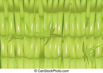 Bamboo Forest Green Background Design Vector