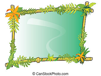 Bamboo frame concept in vector
