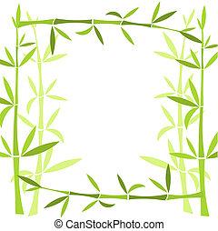Bamboo frame. Vector illustration