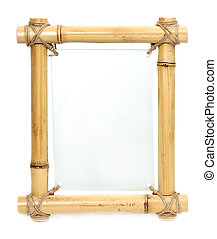Bamboo frame with a place for text
