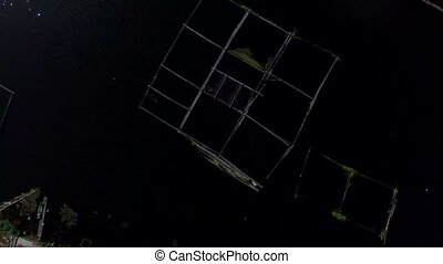 Bamboo hut structure for local aquaculture provide domestic...