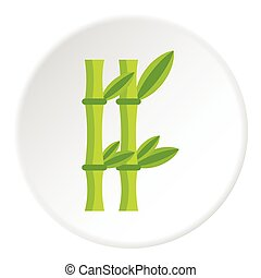 Bamboo icon, flat style