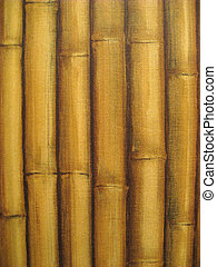 Bamboo in a row