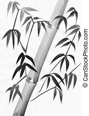 Bamboo leaves and stalk painting