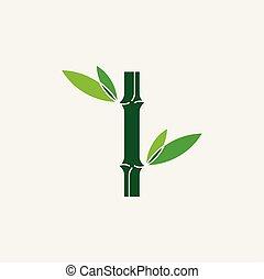 bamboo logo icon vector illustration symbol element