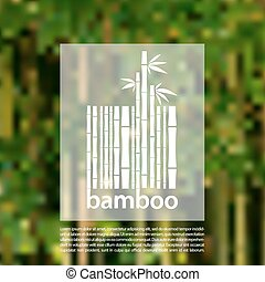 Bamboo logo on a blurred background vector design