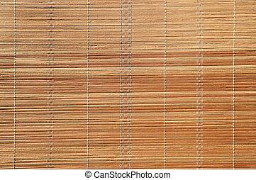 Bamboo stick straw mat background