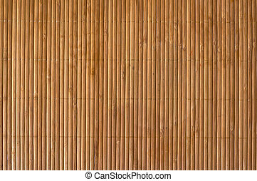 Bamboo mat - Close up bamboo wood mat background.
