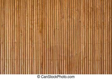 Close up bamboo wood mat background.
