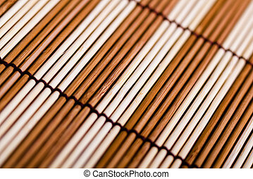 bamboo mat. macro