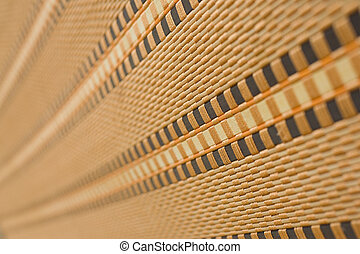 Bamboo mat with shallow depth of field (dof)