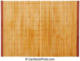 Bamboo napkin isolated