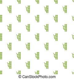 Bamboo pattern, cartoon style