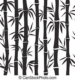 Bamboo pattern. Vector silhouette