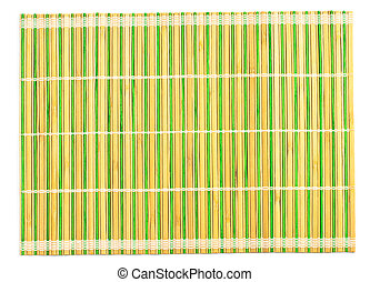 Bamboo placemat isolated on white