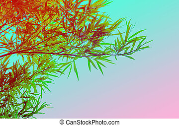 Bamboo plants , colorful, artistic background