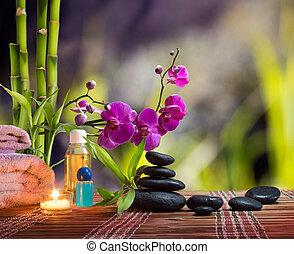 bamboo-purple, 蘭, 構成