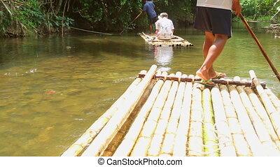 Bamboo rafting in Khao Lak