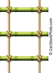 Bamboo rope ladder