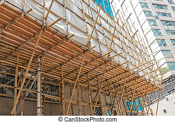 Bamboo Scaffolds Support