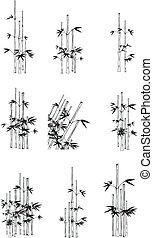 bamboo set1 - bamboo set in vector format