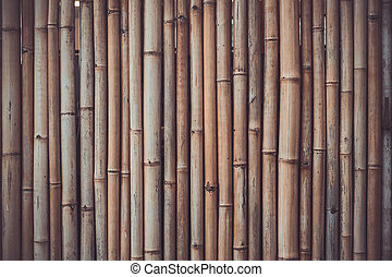 Bamboo shade - Bamboo wooden background. Vintage toning