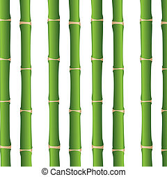 bamboo sticks over white background, close up. vector