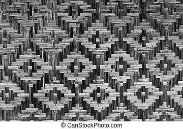 straw black and white texture