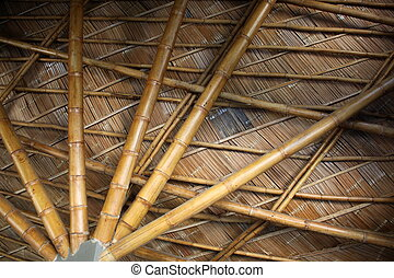 Bamboo Structure in Thailand countryside