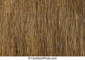 Bamboo Sun Shade Close Up for Backgrounds