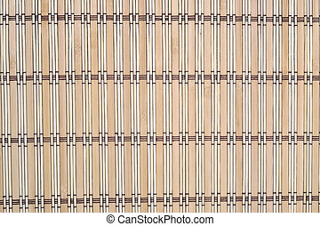 Bamboo tablecloth as background texture