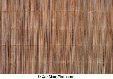 background connected strings of long strips of bamboo