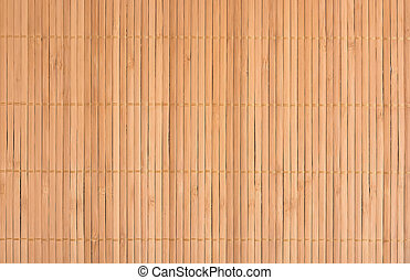 Background of bamboo mat texture. Close-up.