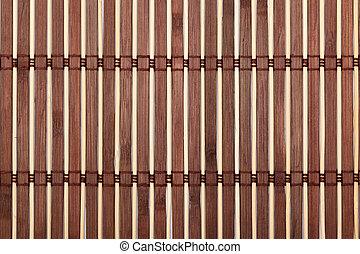 Brown bamboo sticks table runner texture