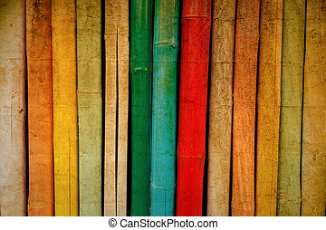 Bamboo texture in vintage colorful