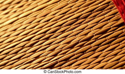 Bamboo texture with bright light closeup