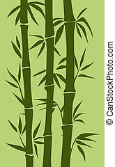 abstract vector tree backround. green bamboo