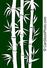 Bamboo tree - abstract bamboo tree.vector illustration