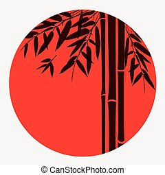 Bamboo trees and leaves.