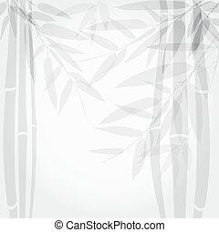 Bamboo trees on white background.