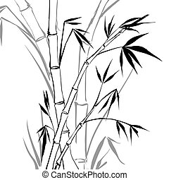 Bamboo isolated over white. Vector illustration.