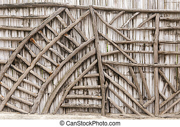 Bamboo Wall - Ecological Man Made Structure - Traditional House - Manta Ecuador
