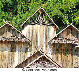 Bamboo wall in Thailand