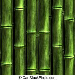 Bamboo Wall - Seamless Bamboo Shoot Plant Wall Background...