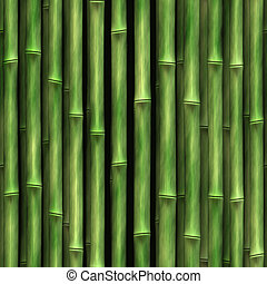 Bamboo Wall - Seamless Bamboo Shoot Plant Wall Background...