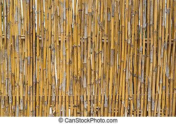Bamboo wall surface.